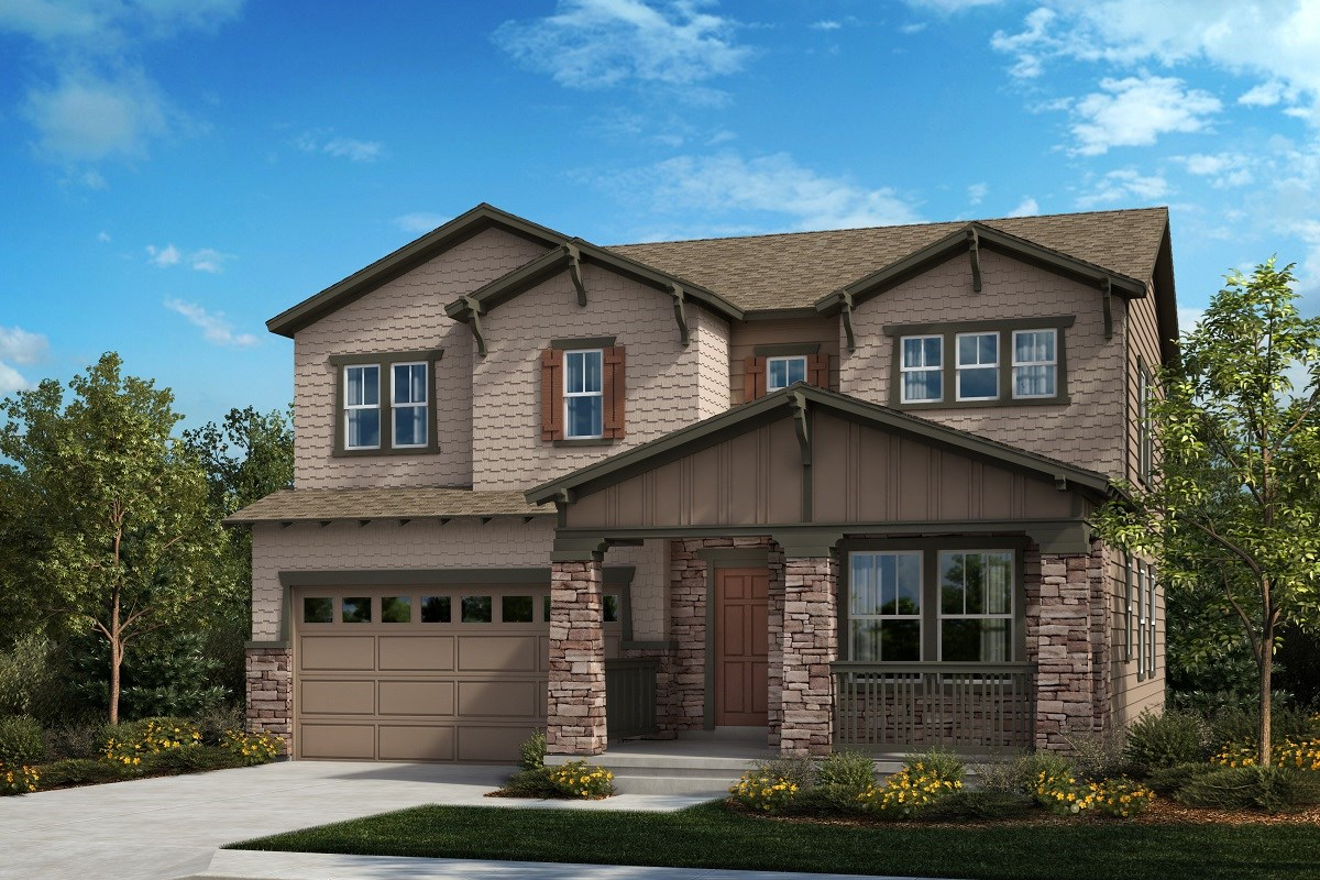 New Homes in Aurora, CO - Painted Prairie The Lafayette - Elevation B