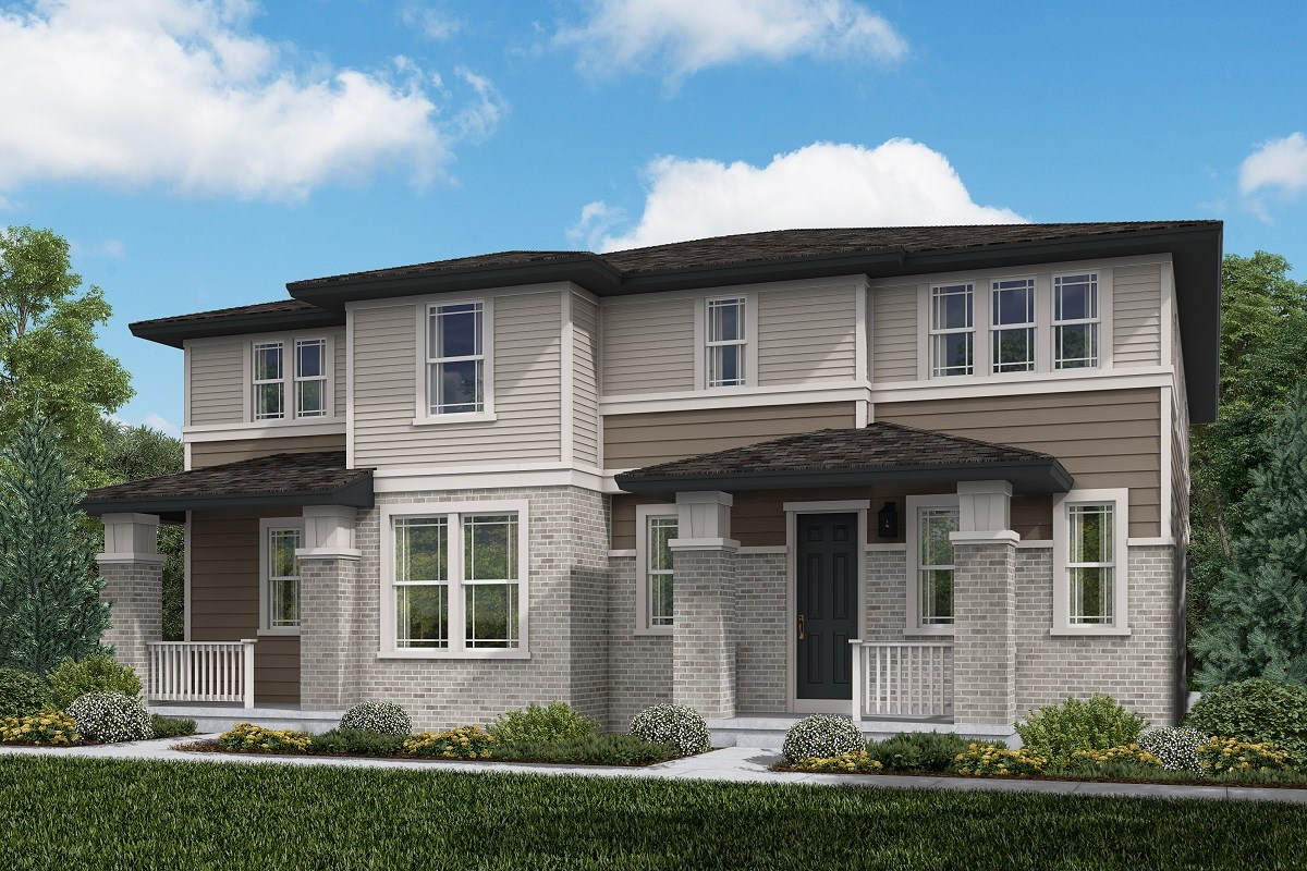 New Homes in Aurora, CO - Painted Prairie Villas Walnut + Redwood: Prairie Style