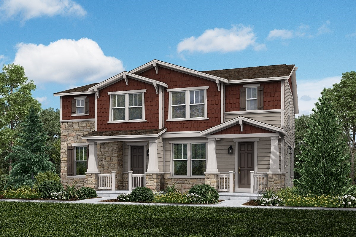 New Homes in Aurora, CO - Painted Prairie Villas Cypress + Spruce: Craftsman Style