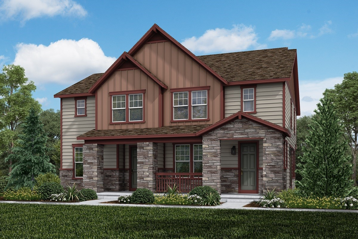 New Homes in Aurora, CO - Painted Prairie Villas Cypress + Spruce: Farmhouse Style