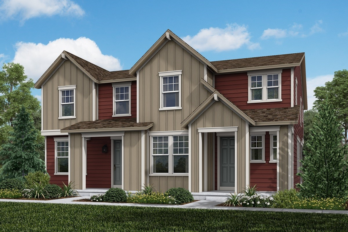 New Homes in Aurora, CO - Painted Prairie Villas Willow + Walnut: Farmhouse Style