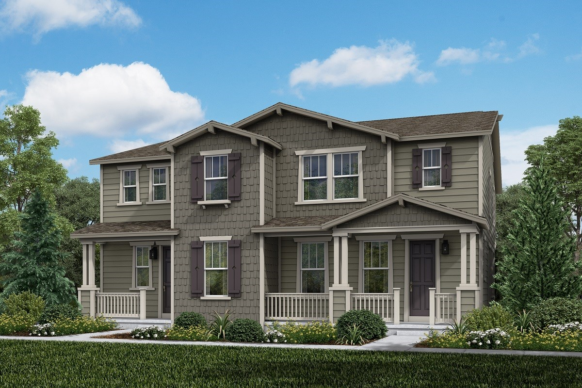 New Homes in Aurora, CO - Painted Prairie Villas Walnut + Spruce: Craftsman Style
