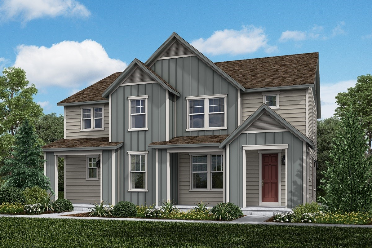 New Homes in Aurora, CO - Painted Prairie Villas Walnut + Spruce: Farmhouse Style