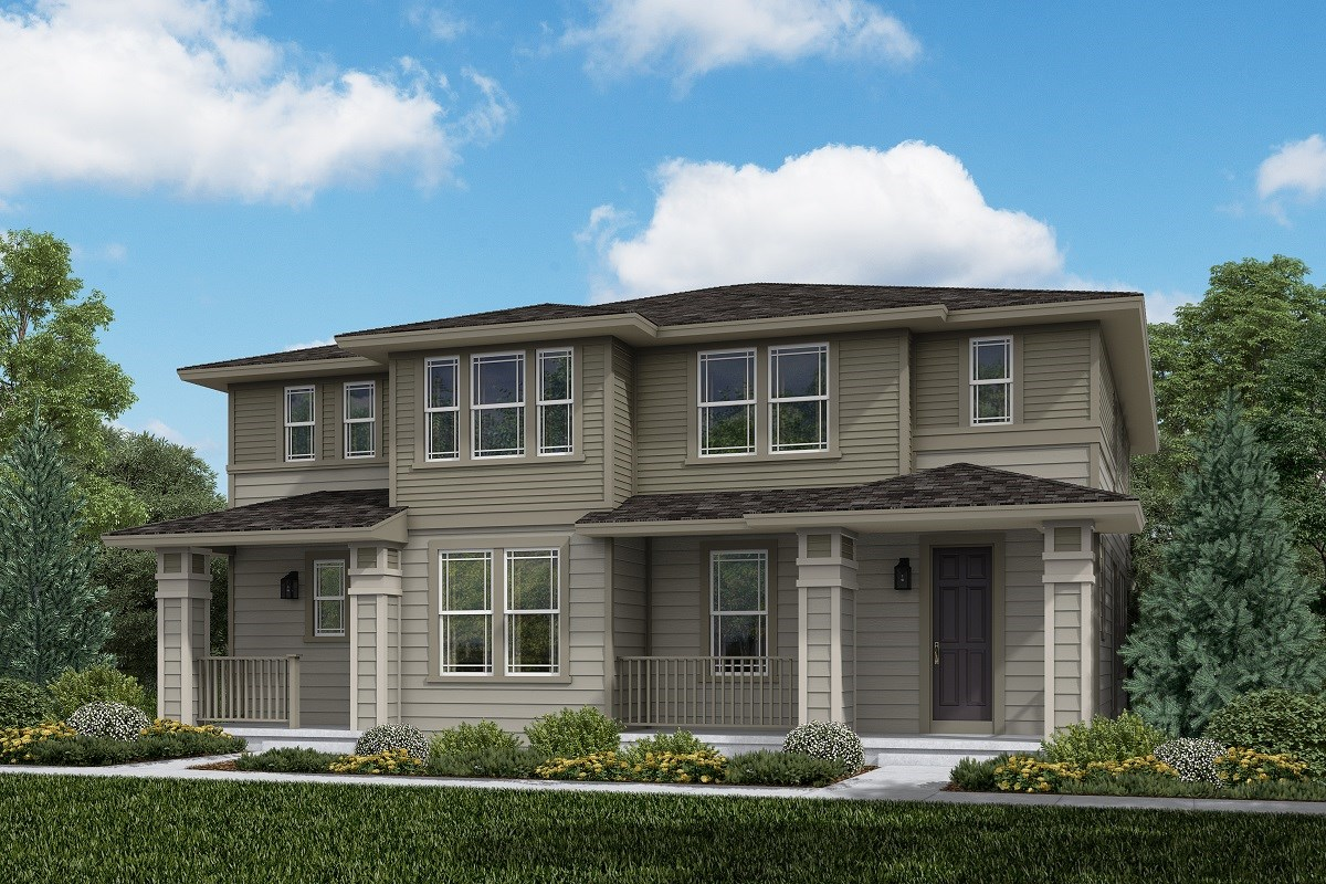 New Homes in Aurora, CO - Painted Prairie Villas Walnut + Spruce: Prairie Style