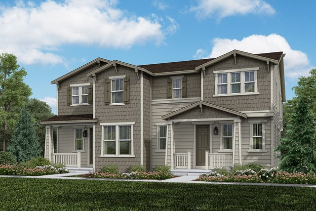 New Homes in Aurora, CO - Walnut + Redwood: Craftsman Style
