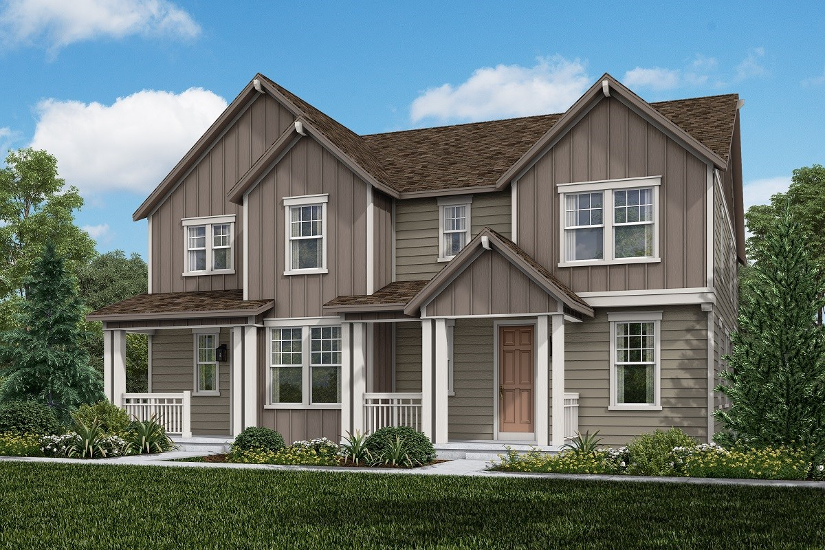 New Homes in Aurora, CO - Painted Prairie Villas Walnut + Redwood: Farmhouse Style