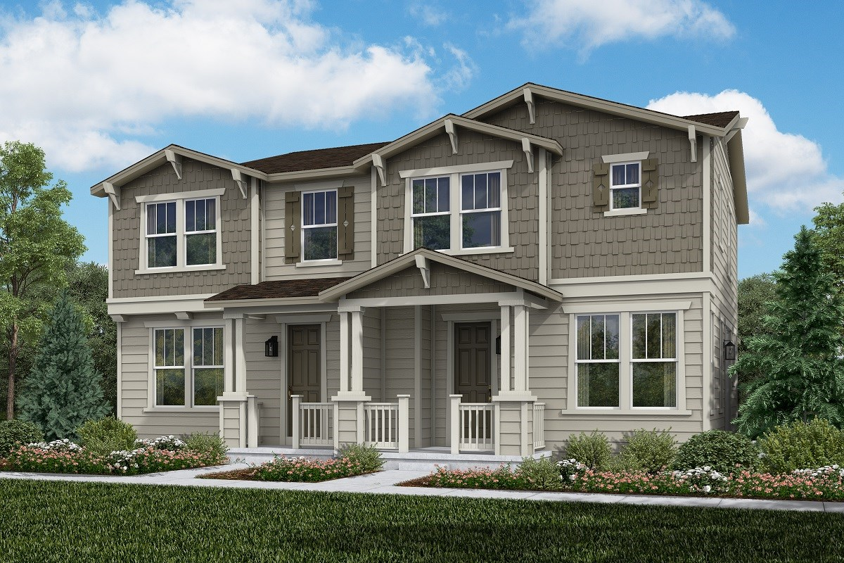 New Homes in Aurora, CO - Painted Prairie Villas Willow + Cypress: Craftsman Style
