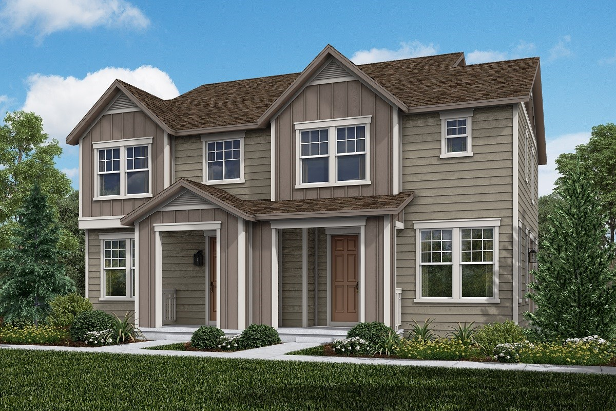 New Homes in Aurora, CO - Painted Prairie Villas Willow + Cypress: Farmhouse Style