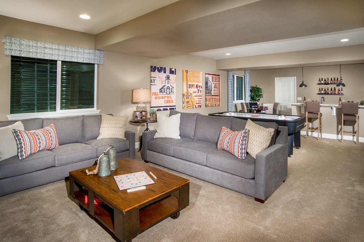 New Homes in Commerce City, CO - Reunion Lafayette Finished Basement
