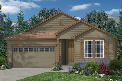 New Homes in Castle Rock, CO - Crestview Elevation A