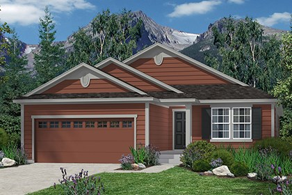 New Homes in Castle Rock, CO - Chaucer Elevation A