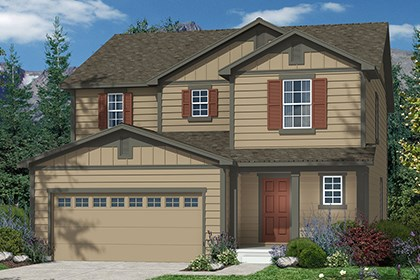 New Homes in Castle Rock, CO - Kittredge Elevation A