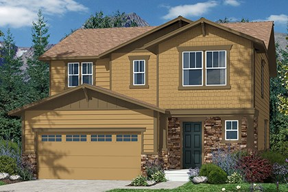 New Homes in Castle Rock, CO - Kittredge Elevation C