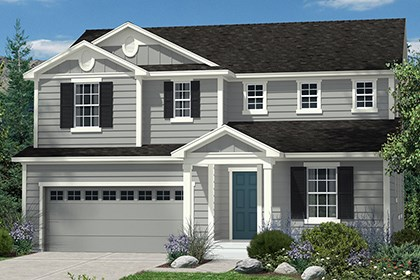 New Homes in Castle Rock, CO - Lafayette Elevation A