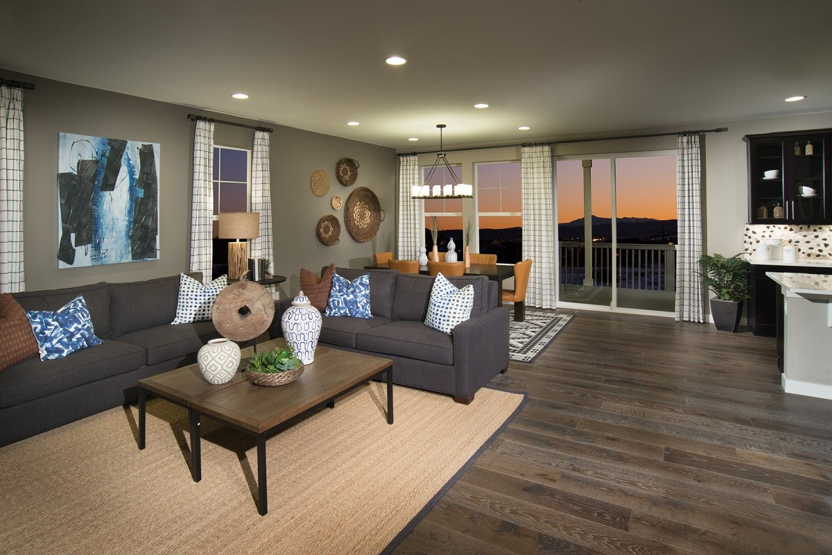 New Homes in Castle Rock, CO - Siena Lafayette Great Room