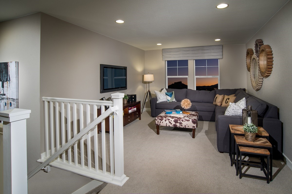 New Homes in Castle Rock, CO - Siena Lafayette Loft Media Room
