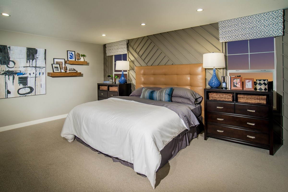 New Homes in Castle Rock, CO - Siena Lafayette Master Bedroom