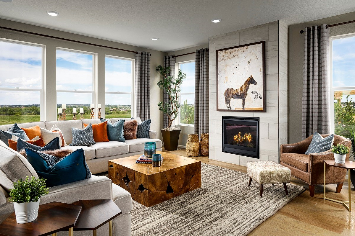 New Homes in Aurora, CO - Sky Ranch Sparkle - Family Room