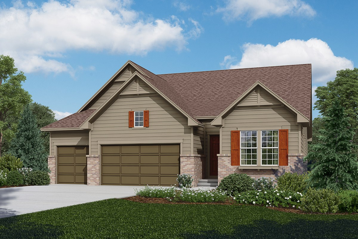 New Homes in Longmont, CO - The Estates at Somerset Meadows Avana - Elevation A