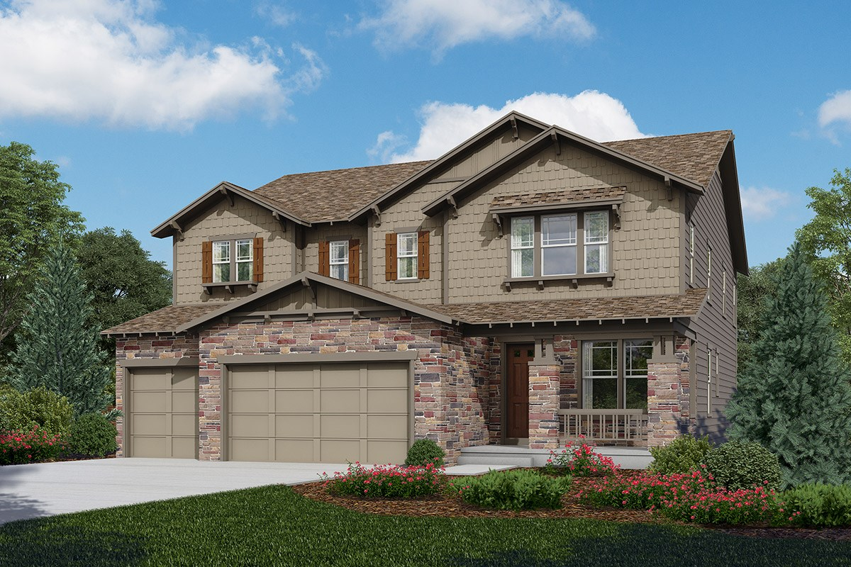 New Homes in Longmont, CO - The Estates at Somerset Meadows Trentino - Elevation C