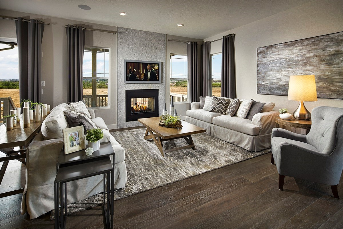 New Homes in Longmont, CO - The Estates at Somerset Meadows Domina Family Room