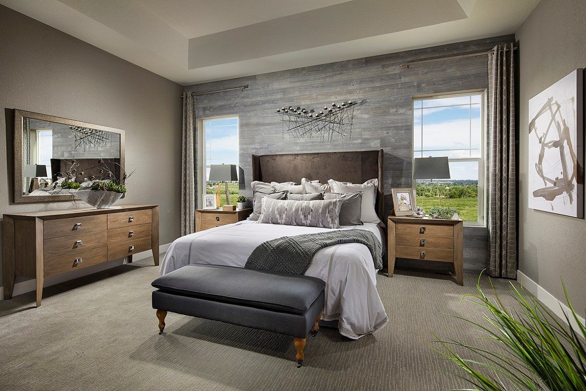 New Homes in Longmont, CO - The Estates at Somerset Meadows Domina Master Bedroom