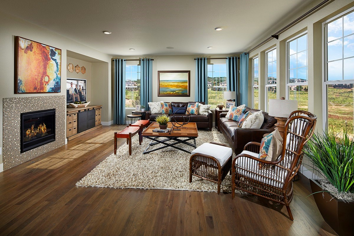 New Homes in Longmont, CO - The Estates at Somerset Meadows Trentino Family Room
