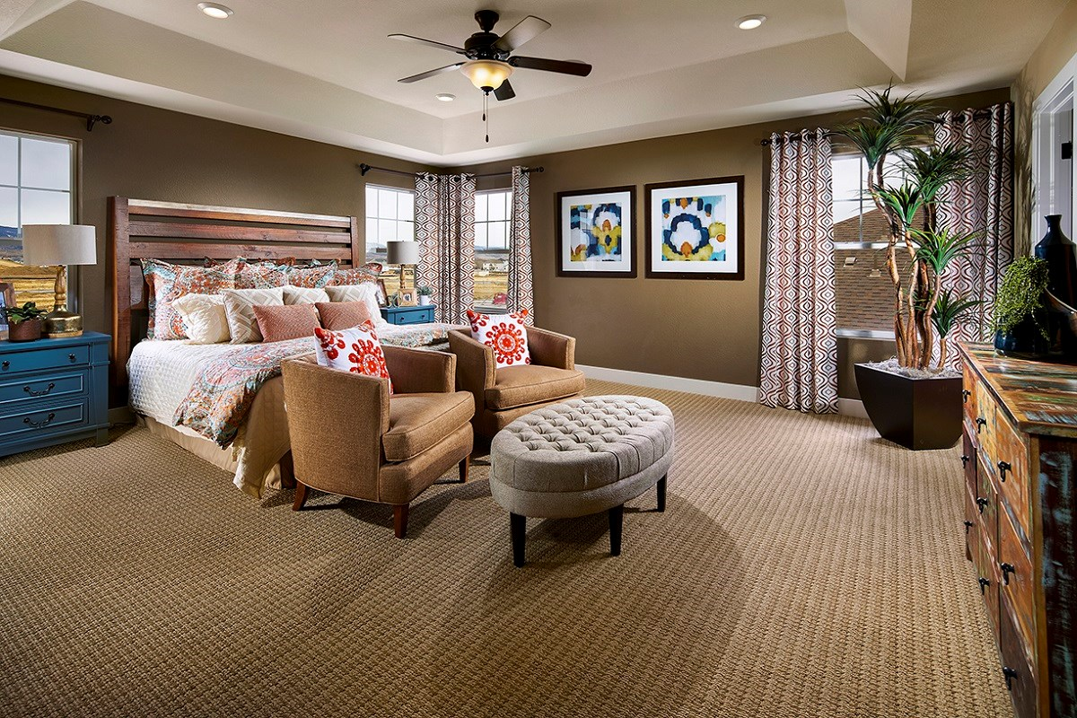 New Homes in Longmont, CO - The Estates at Somerset Meadows Trentino Master Bedroom