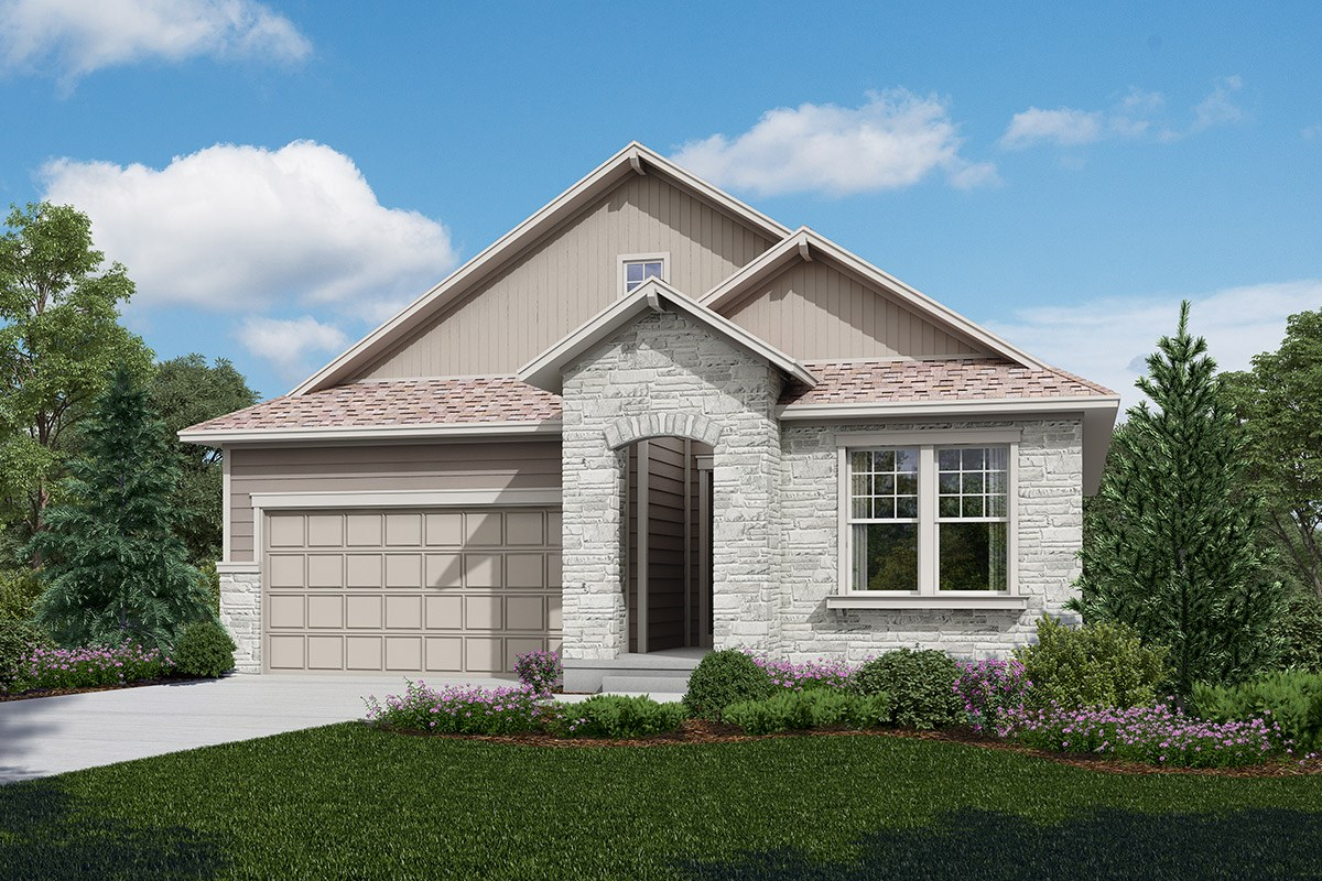 New Homes in Longmont, CO - The Reserve at Somerset Meadows  Crestview Rendering - Elevation B