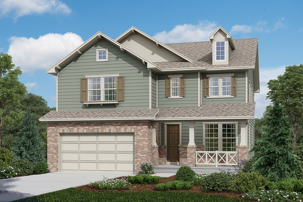 New Homes in Longmont, CO - The Reserve at Somerset Meadows  Montrose Rendering - Elevation A
