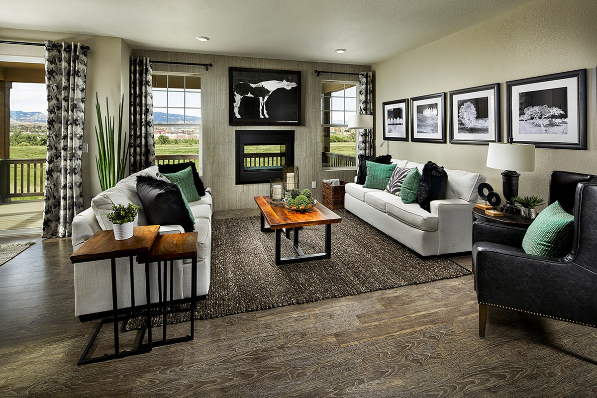 New Homes in Longmont, CO - The Reserve at Somerset Meadows  Crestview Family Room
