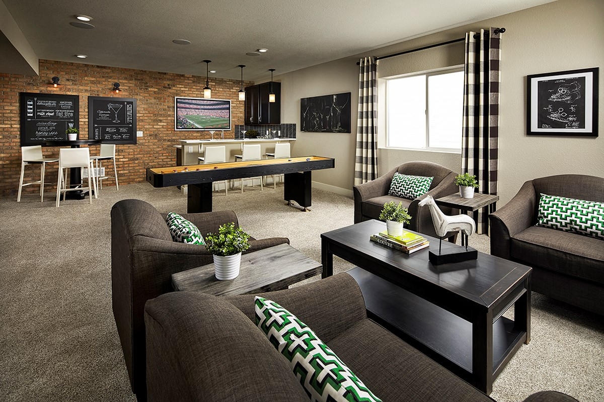 New Homes in Longmont, CO - The Reserve at Somerset Meadows  Crestview Rec Room