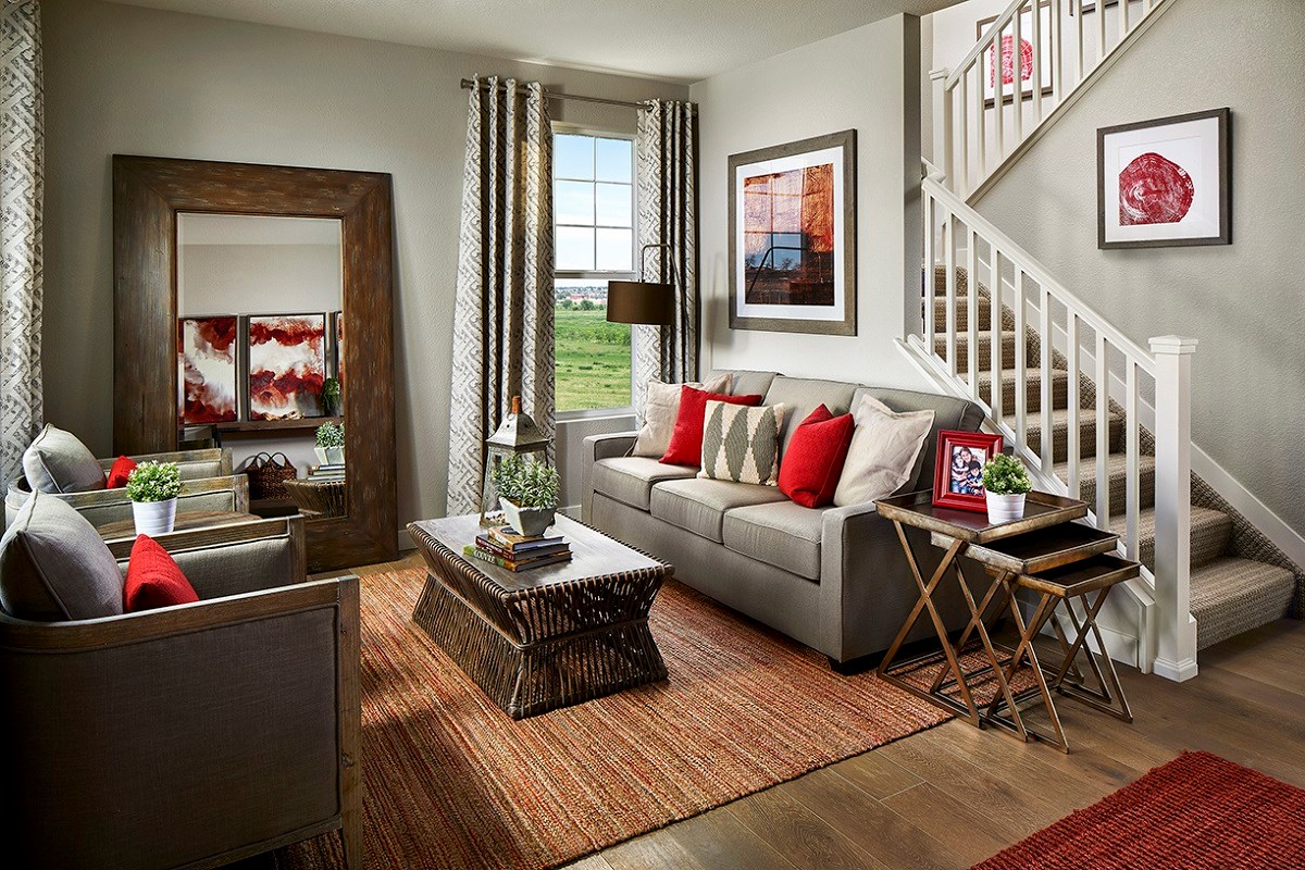 New Homes in Longmont, CO - The Reserve at Somerset Meadows  Montrose Living Room