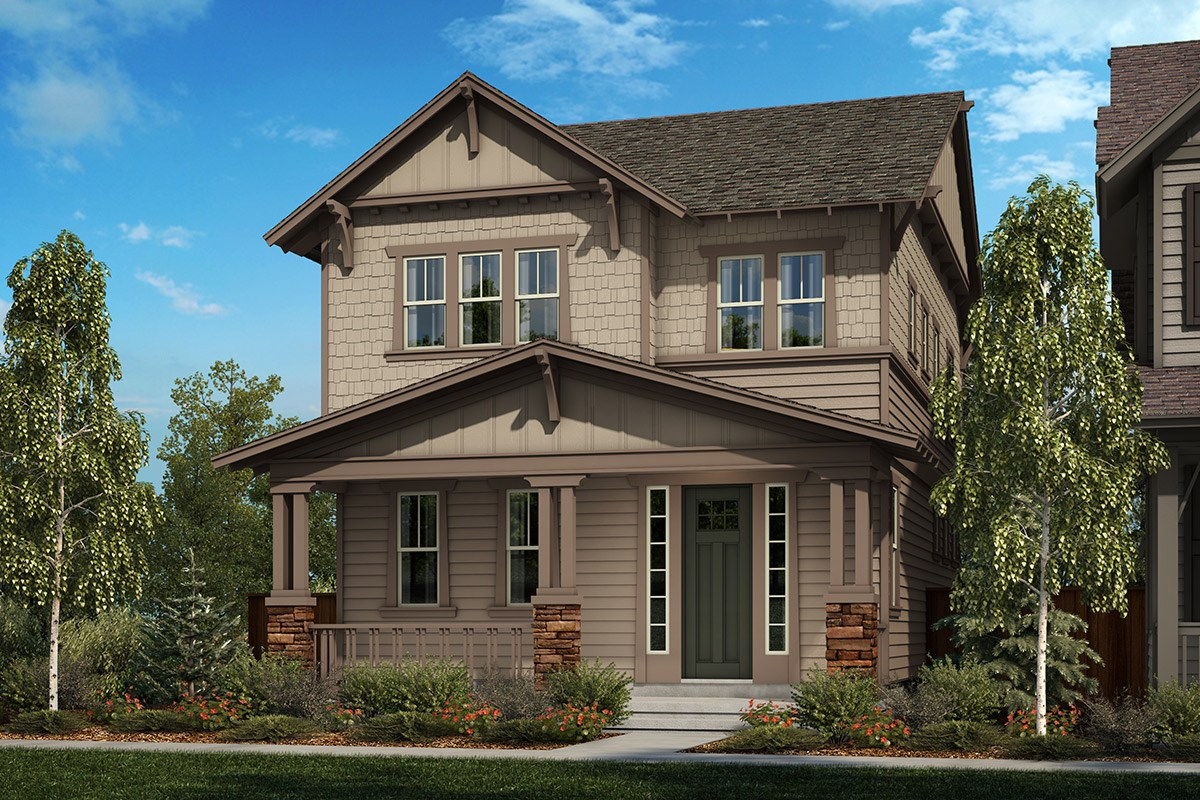 New Homes in Denver, CO - Stapleton Wildflower Collection Laurel - Elevation B