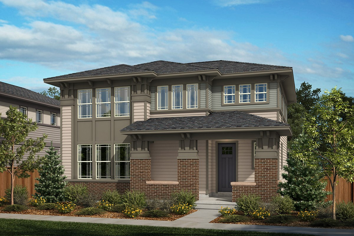 New Homes in Denver, CO - Stapleton Wildflower Collection Silverbell - Elevation A