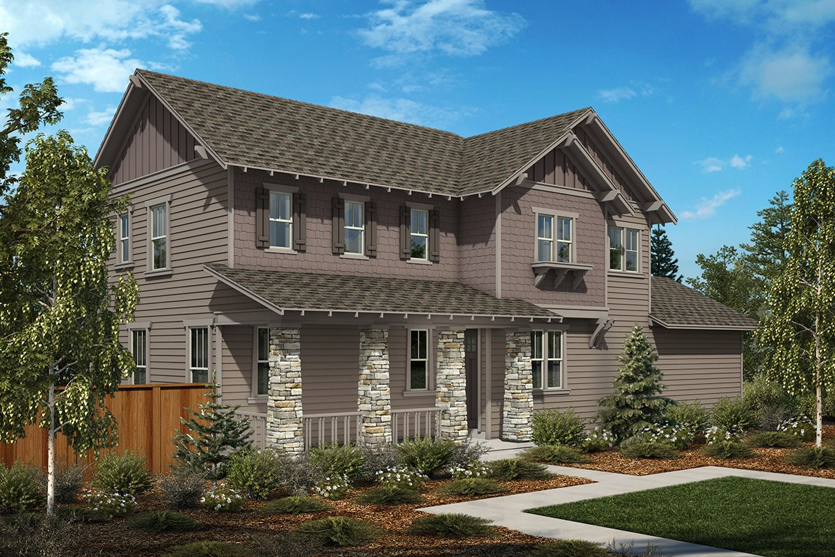 New Homes in Denver, CO - Stapleton Wildflower Collection Woodlily - Elevation B
