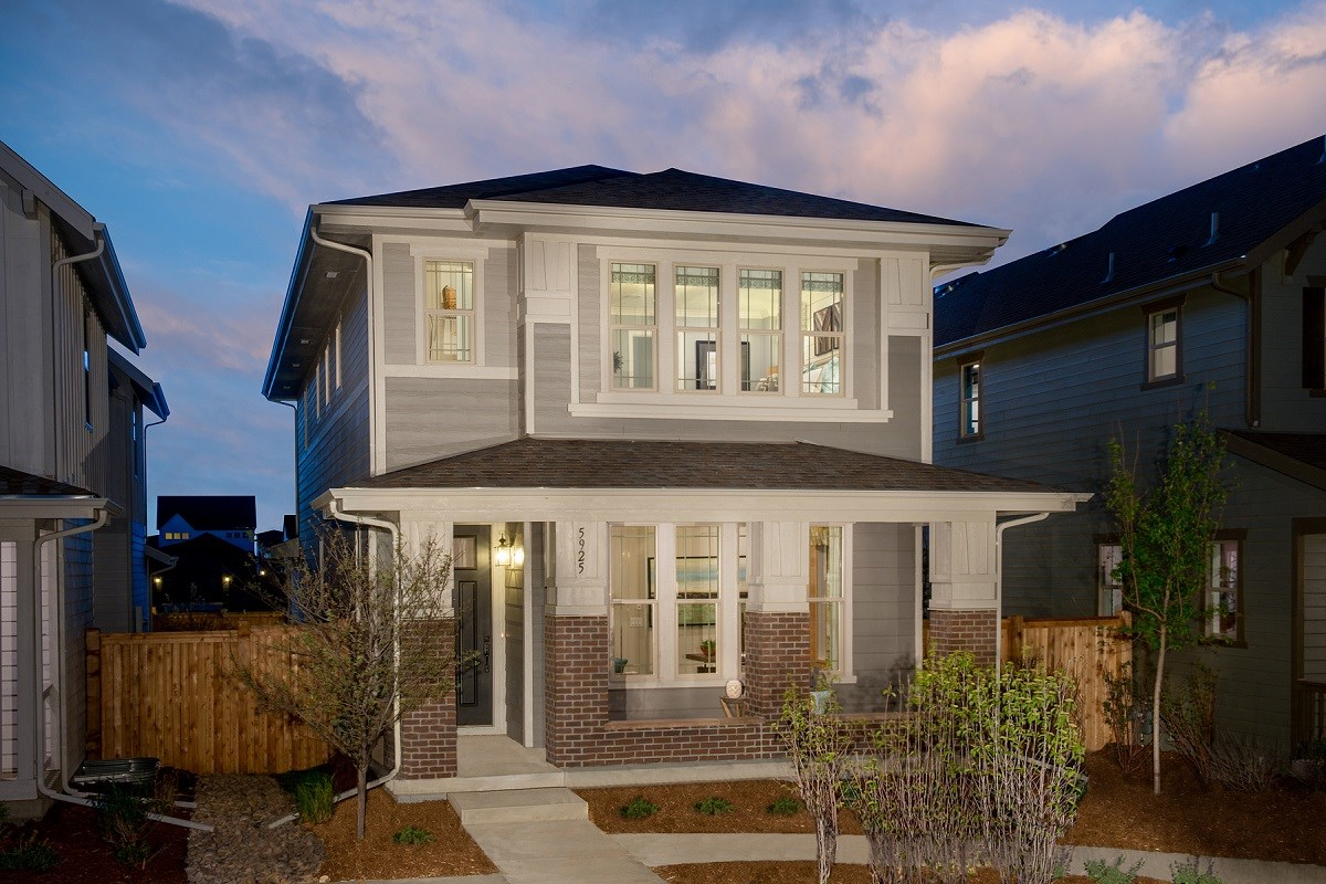 New Homes in Denver, CO - Stapleton Wildflower Collection Bluebonnet Exterior