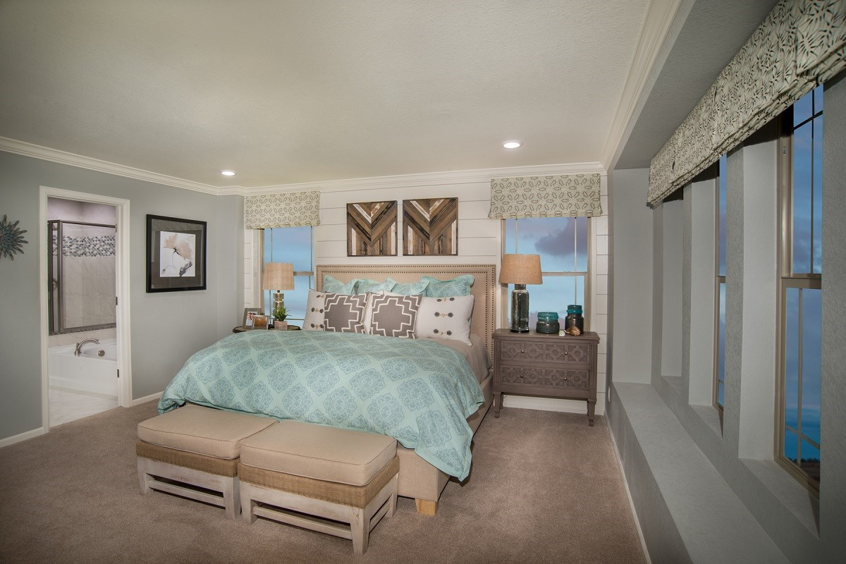New Homes in Denver, CO - Stapleton Wildflower Collection Bluebonnet Master Bedroom