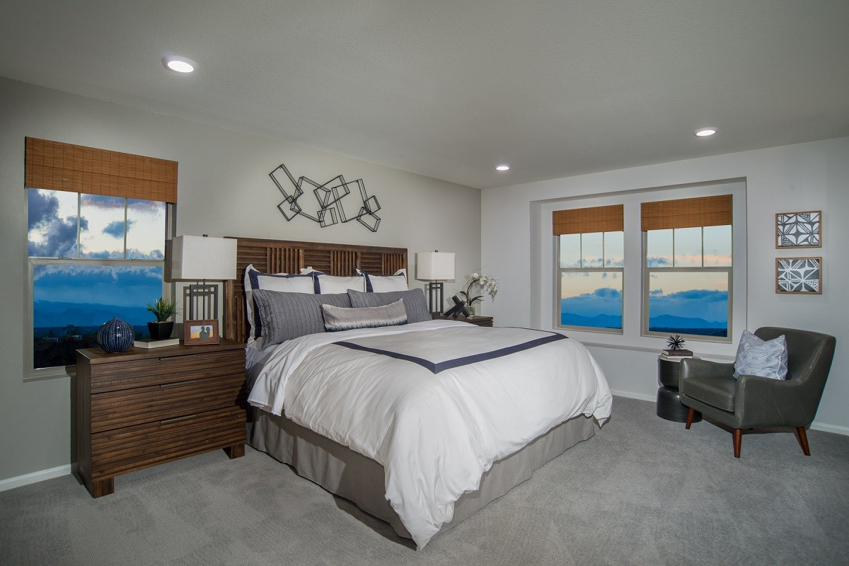 New Homes in Denver, CO - Stapleton Wildflower Collection Verbena Master Bedroom