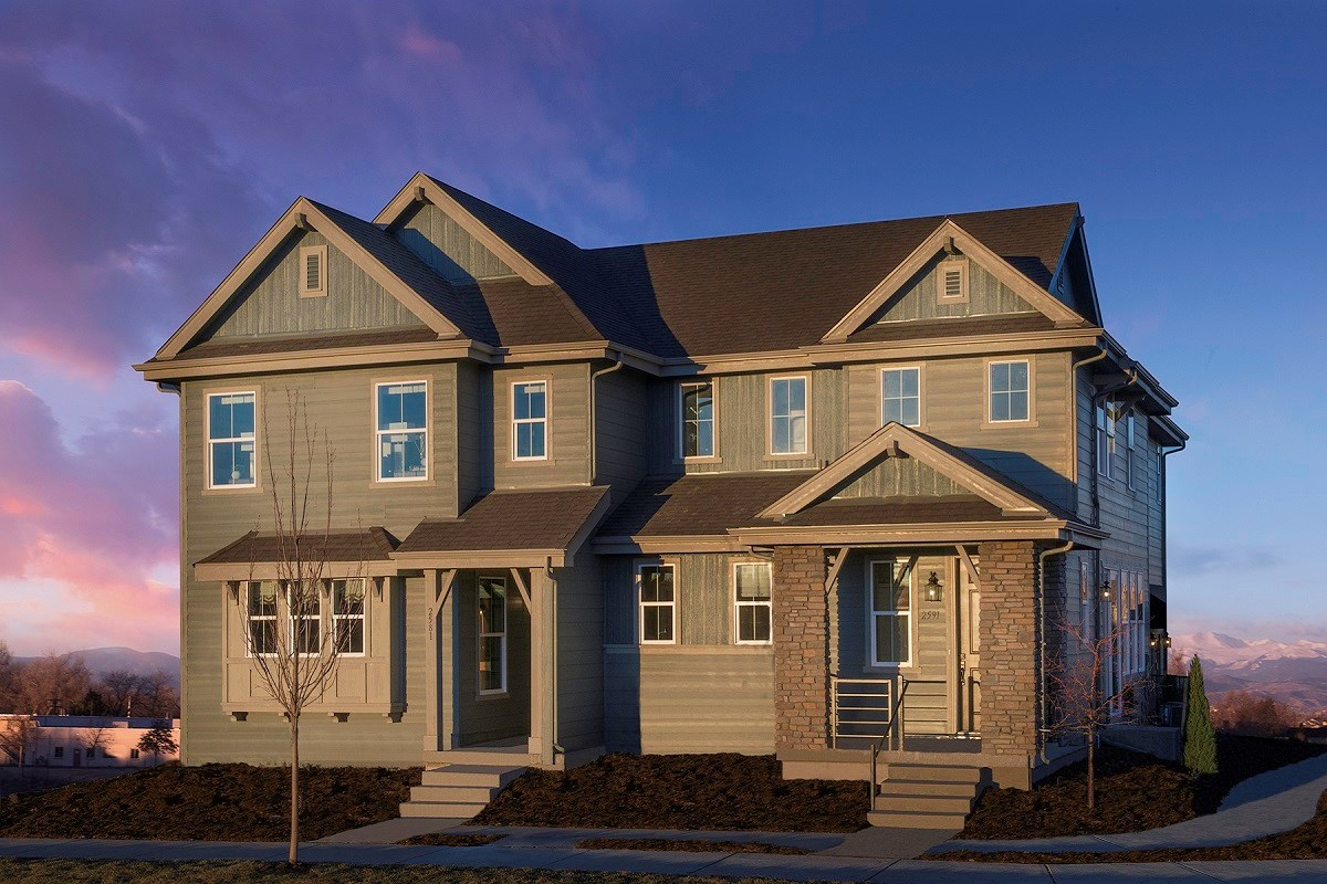 New Homes in Aurora, CO - Stapleton Villa Collection at Bluff Lake Hemlock + Maple Model Home