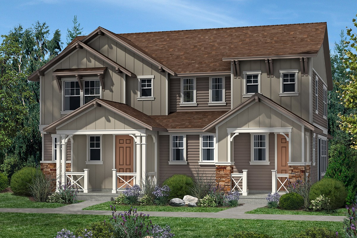 New Homes in Denver, CO - Stapleton Villa Collection at Bluff Lake Maple and Cedar - Elavation A