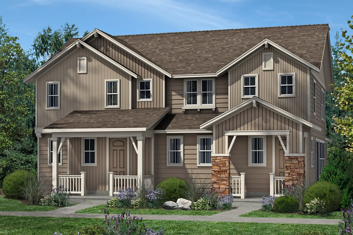 New Homes in Denver, CO - Stapleton Villa Collection at Bluff Lake Hemlock and Cedar - Elevation B