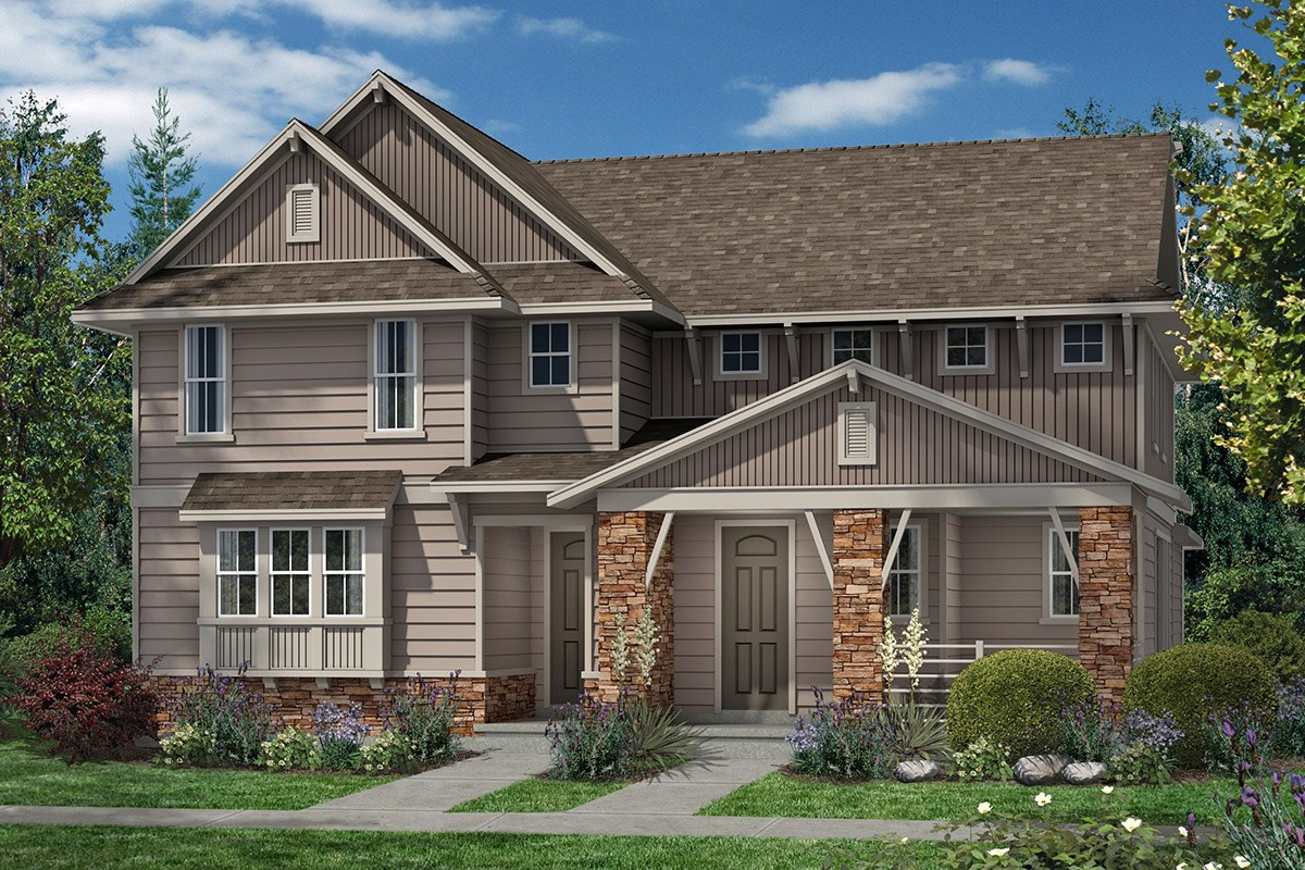New Homes in Denver, CO - Stapleton Villa Collection at Bluff Lake Maple and Cedar - Elevation B