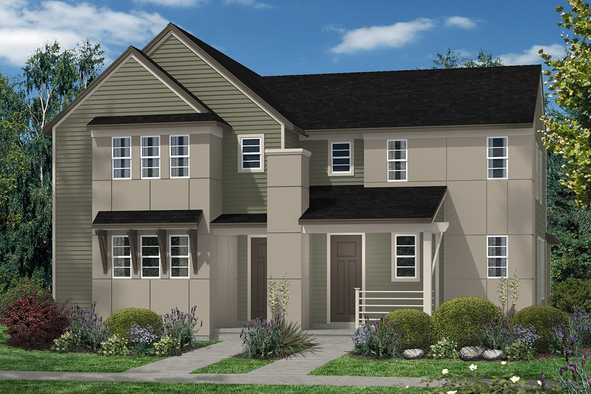 New Homes in Denver, CO - Stapleton Villa Collection at Bluff Lake Maple and Cedar - Elevation C