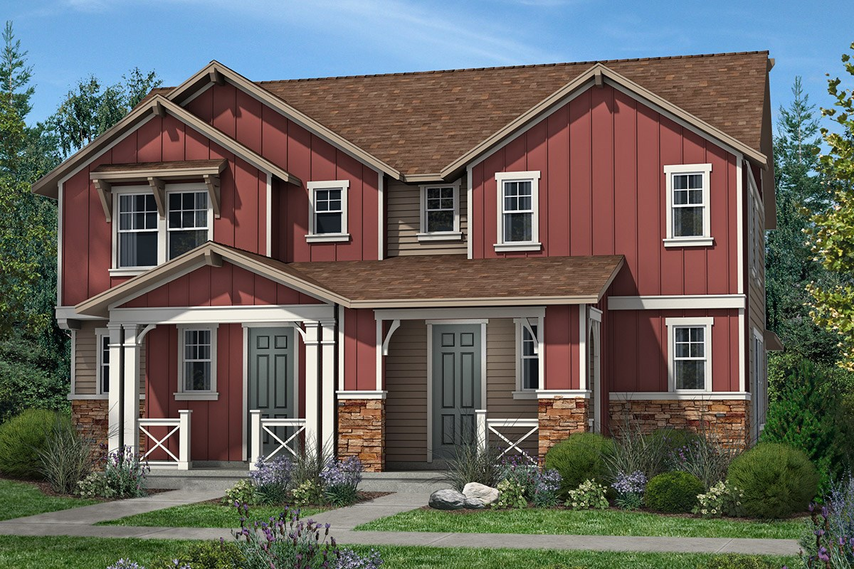 New Homes in Denver, CO - Stapleton Villa Collection at Bluff Lake Cedar and Cedar - Elevation A