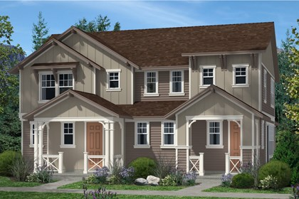 New Homes in Denver, CO - Cedar and Hemlock Elevation A