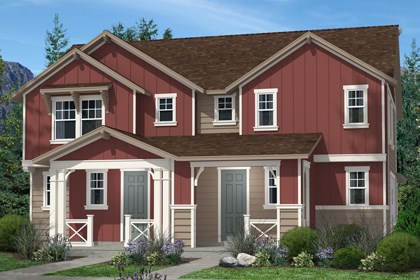 New Homes in Denver, CO - Cedar and Cedar Elevation A
