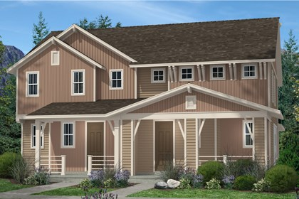 New Homes in Denver, CO - Cedar and Cedar Elevation B