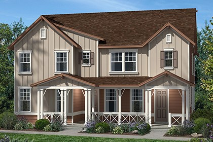 New Homes in Denver, CO - Maple + Spruce - Elevation A