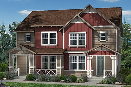 New Homes in Denver, CO - Spruce + Spruce - Elevation A